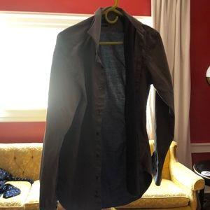 Zara men's button up gray shirt